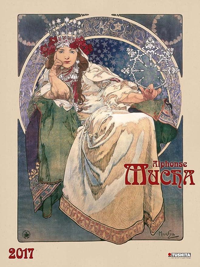 Calendario 2017 Maxi calendario Alphonse Mucha - Art Nouveau ...