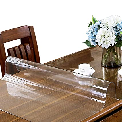 Amazon Com Etechmart Clear Pvc Table Top Protector 1 5mm Thick