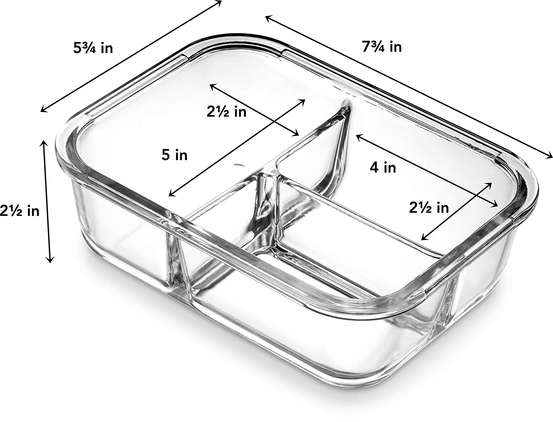 Amazon.com: Ez Prepa - Fiambrera con 3 compartimentos, de ...