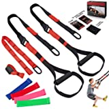 FLPLX Bodyweight Resistance Training Straps, Complete Home Gym Fitness Trainer kit for Full-Body Workout, Included Door…