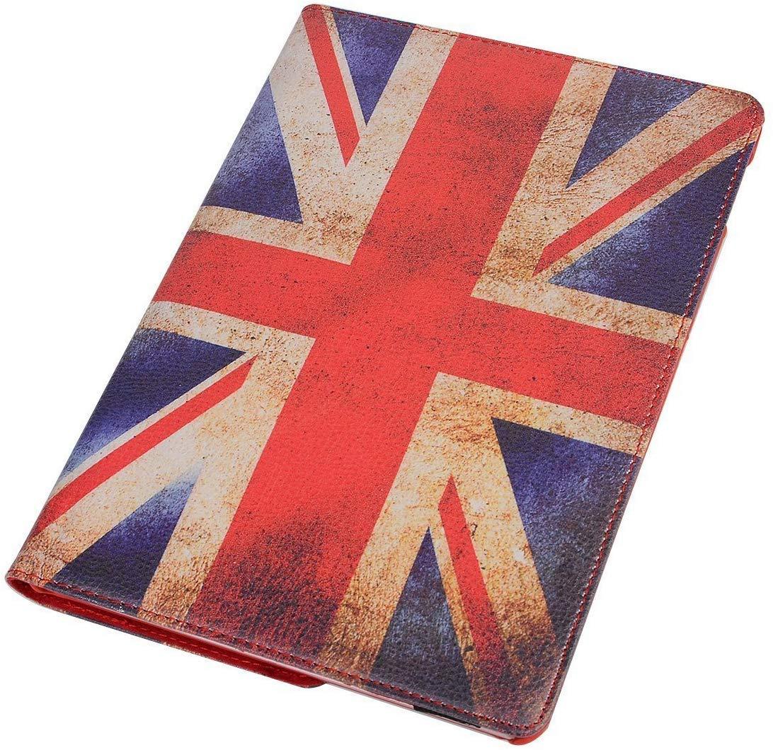 9.7'' iPad Case for iPad 6, TechCode 360 Degree Rotating Stand Cover Lightweight Flip Folio Book Case Auto Sleep Wake Protective Smartshell Slim for iPad Air/Air 2/ iPad 5th/ 6th Gen 9.7 inch,UK-Flag by TechCode