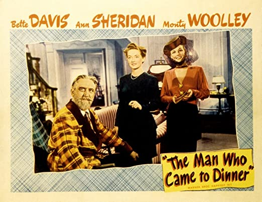 Bette Davis movie poster print The Man Who Came to Dinner 1942