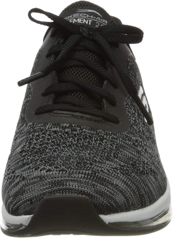 Skechers Damen Skech-air Element 2.0-Dance T Sneaker Schwarz Weiß