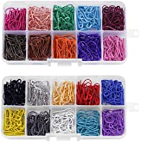 Forma 300pcs color de la mezcla de la calabaza clips de seguridad patillas de metal Calabaza agujas para labores de…