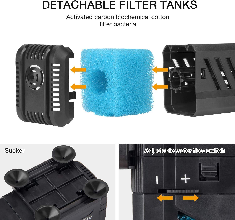4 Piezas de Esponja de Filtro para Acuarios Accesorios de Filtro para Bomba de Filtro 500 L//H IREENUO Filtro de Esponja para Acuario