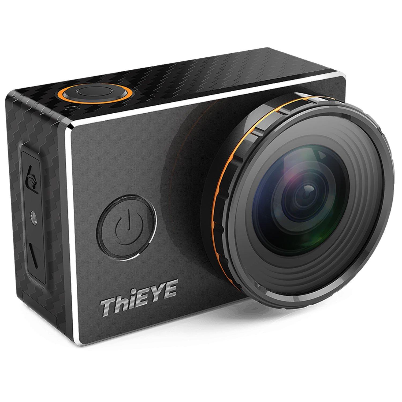 ThiEYE 4K Cámara de acción deportiva Wifi con filtros reemplazables Rotación de 360 grados 60M Funda impermeable Cámara de video HD 1080p para ciclismo casco