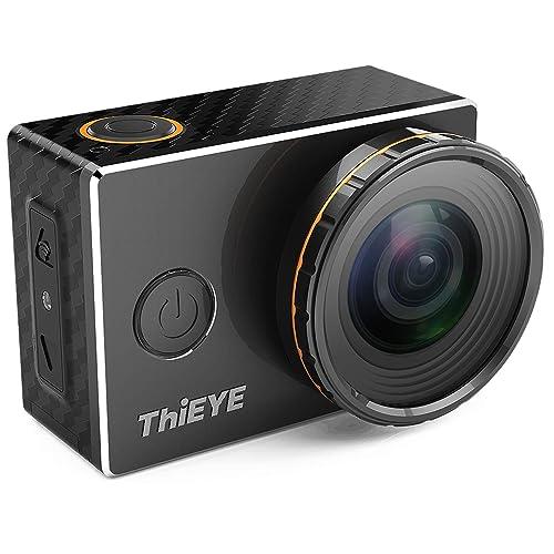 ThiEYE 4K WiFi Action Camera con Filtri Sostituibili 360 Gradi di Rotazione 60 Metri Impermeabile Sport Videocamera HD 1080p Fotocamera con Accessori Pieno