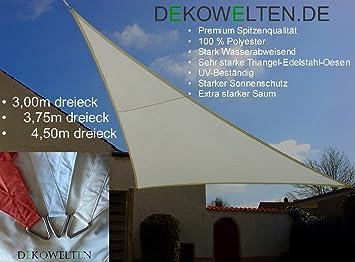 Sonnensegel Für Terasse luxus sonnensegel dreieck 3 00m sonnen und regenschutz terrasse