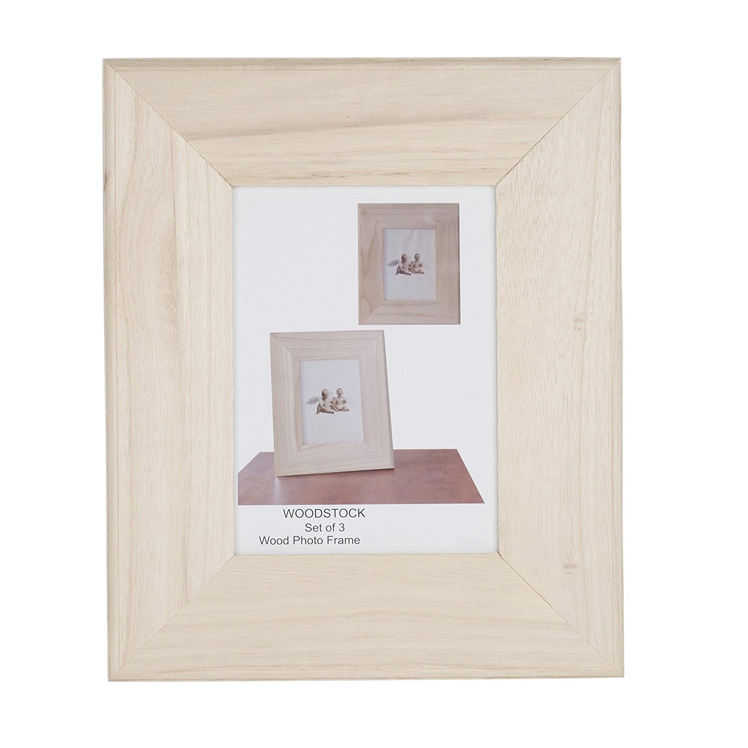 Amazon.com: Unfinished Solid Wood Photo Picture Frames Ready To ...