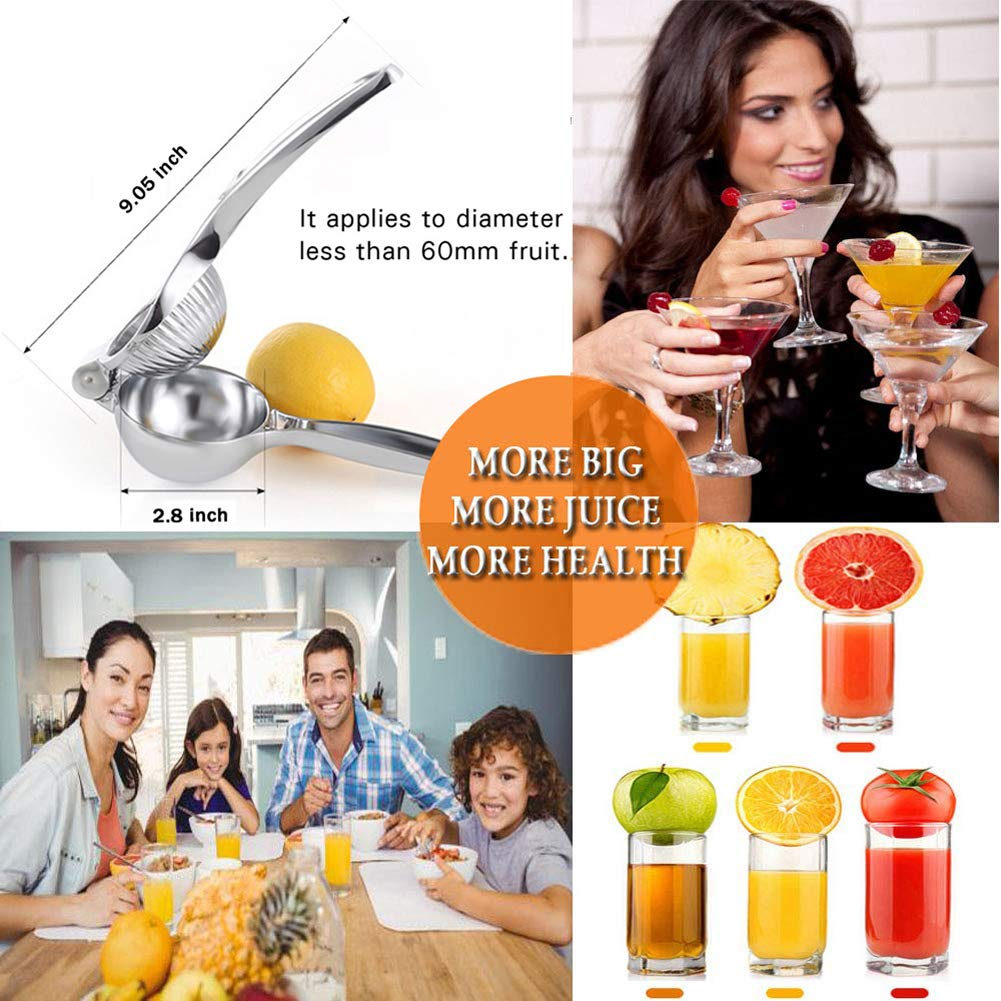 Fresh Lemon Juicer and Lime Squeezer Stainless Steel KAGDIDA Lemon Squeezer Stainless Steel with Premium Quality Heavy Duty Solid Metal Squeezer Bowl Large Manual Citrus Press Juicer