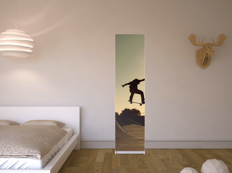 Klebefolie Sticker Aufkleber für IKEA Pax Schrank 201 cm Höhe - 1 ...