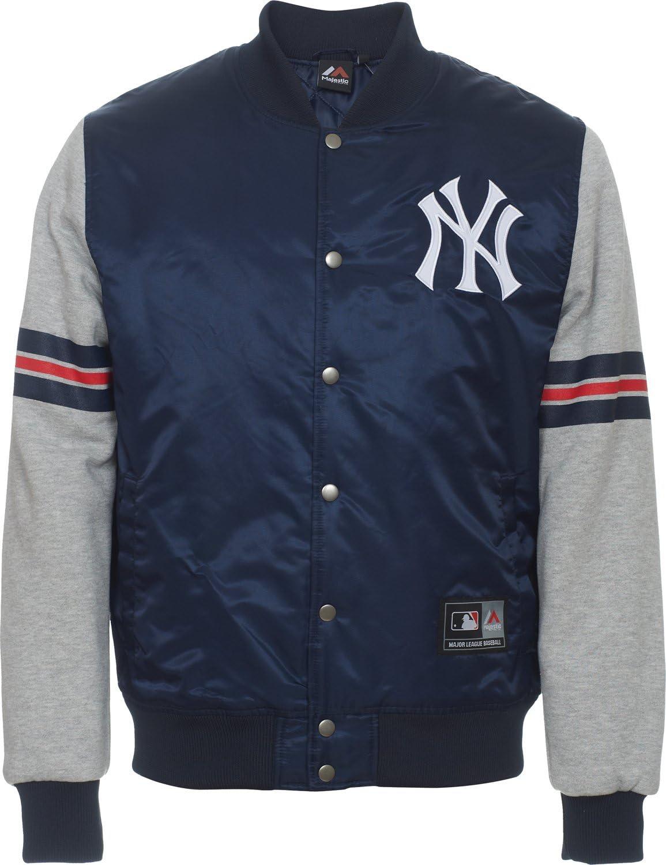 NY Yankees MLB Tejido de mezcla de Furze chaqueta–XS