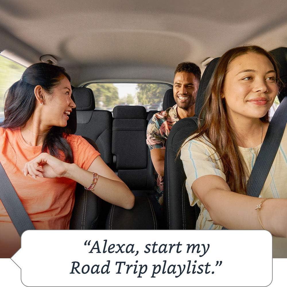 friends on a roadtrip using Alexa Echo Auto
