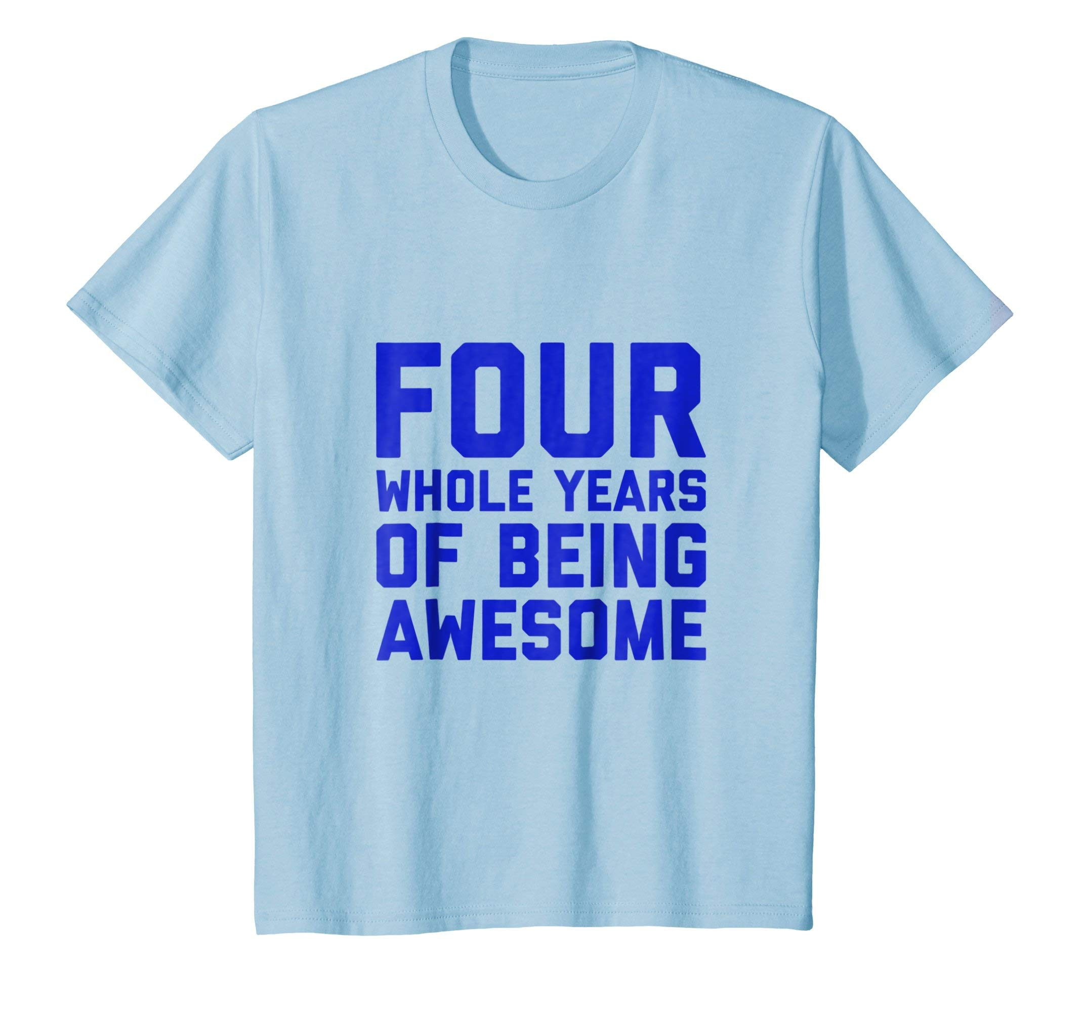Kids 4th Birthday Shirt Gift Boys Age 4 Four Year Old Boy Tshirt 8 Baby Blue
