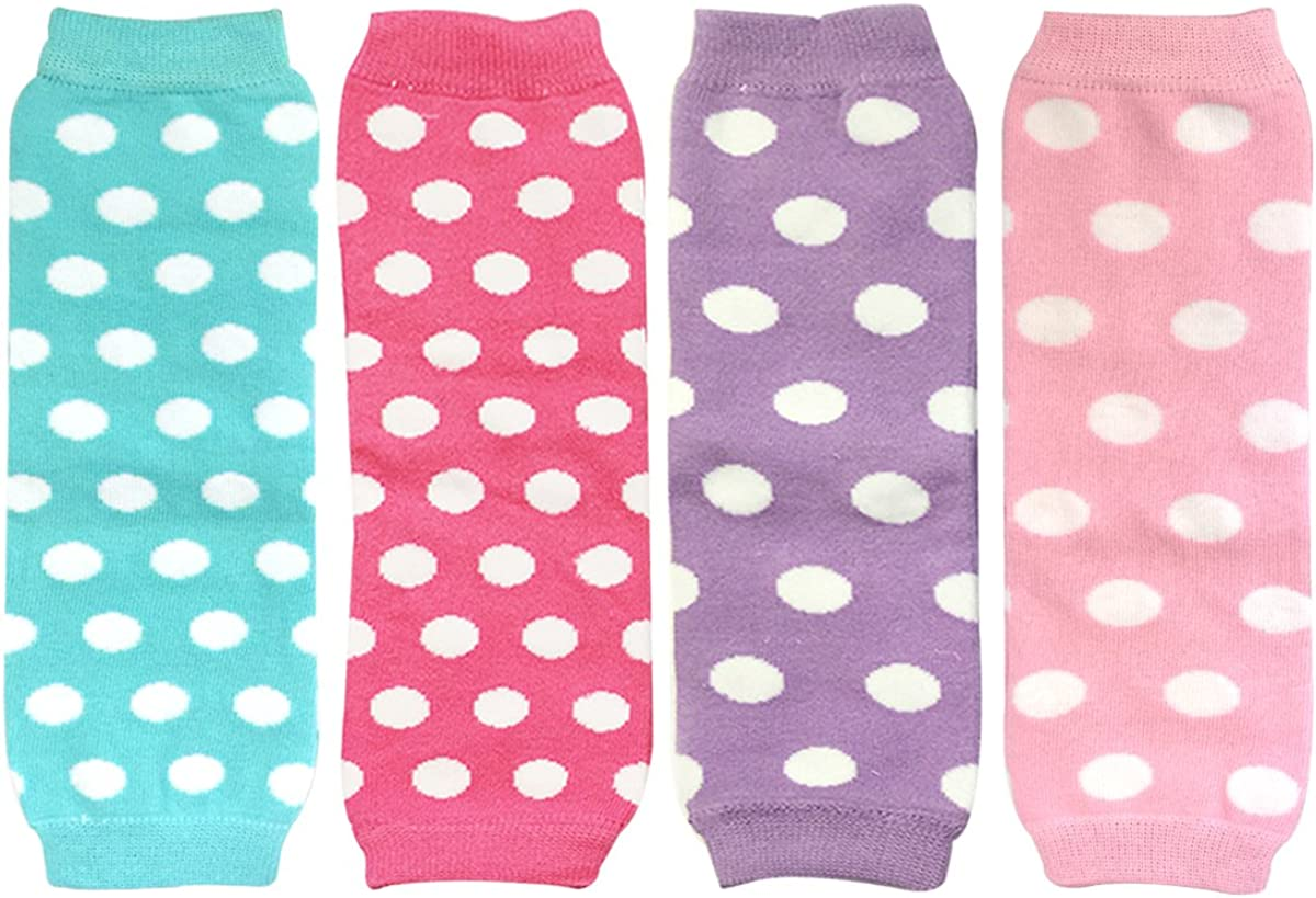 Wrapables Ruched and Dots Baby Leg Warmers Black