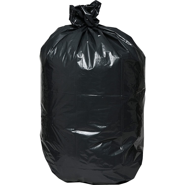 Genuine Joe GJO01533 Heavy Duty Low-Density Puncture Resistant Trash Bag, 33 Gallon Capacity, 1.50 mil Thickness, Black (Box of 100)