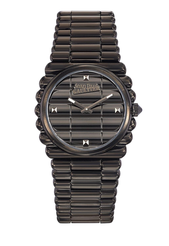 Zeigt Damen – Jean Paul Gaultier – Rand KÜste – Armband Stahl PVD schwarz – 34 mm – 8504103