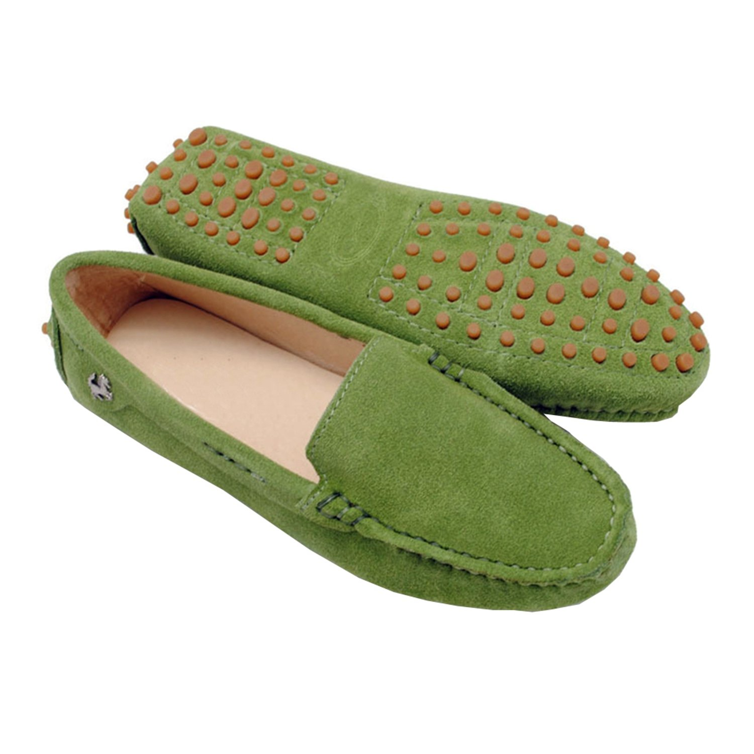 Minishion TYB9601 Women's Round Toe Loafers Boat Shoes Ballet Flats Loafers B071W96R3J 5.5 B(M) US|Light Green