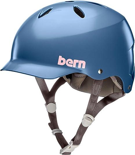 Bern bw05e18sid2 casco de bicicleta para mujer, azul, M: Amazon.es ...