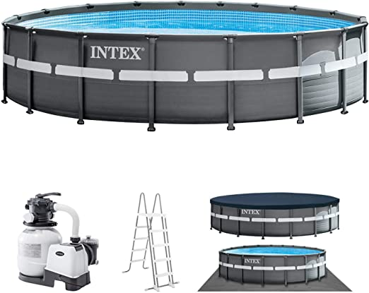Intex 26330 Piscina, Gris: Amazon.es: Jardín