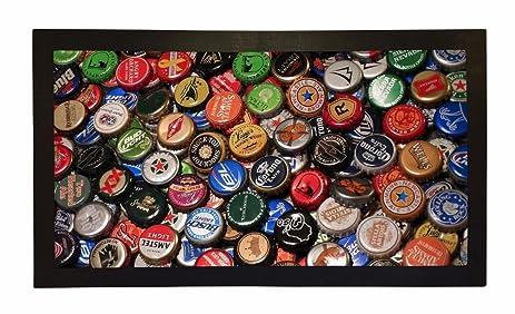 Rubber Bar Mat Bar Runner Beer Lager Bottle Tops Spill Mat Gift Idea