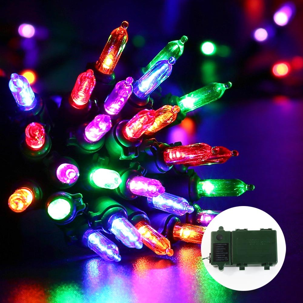 Amazon.com : Qedertek Christmas Battery String Lights 50 LED 13.1 ...
