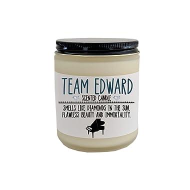 Team Edward Twilight Saga Scented Candle Edward and Bella Edward Cullen Twilight Gift Twilight Fan