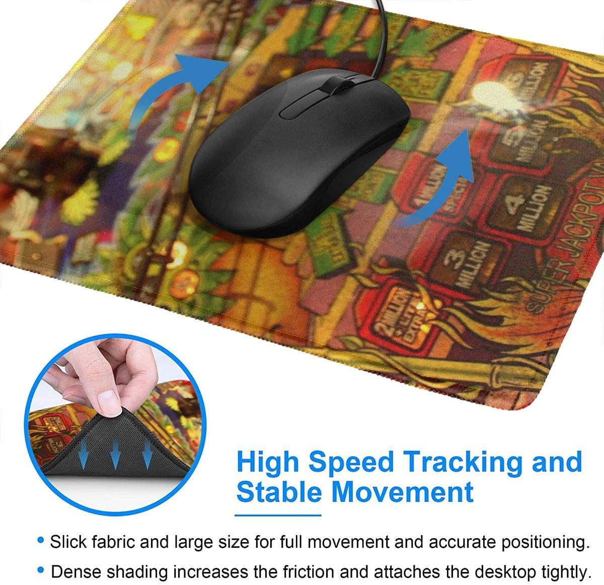 Ive Got Wood Distressed Version Hemming The Mouse Pad 10 X 12 Inch Esports Office Study Computer