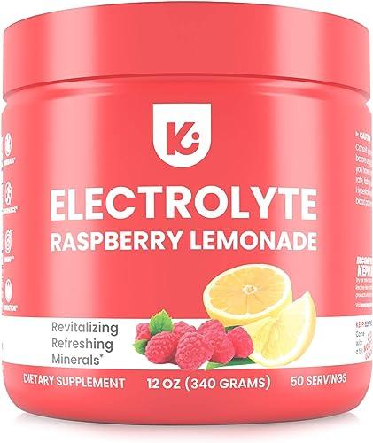 Keto Electrolytes Powder Advanced Hydration – Stay Healthy, Stay Hydrated, 50 Servings, Raspberry Lemonade Electrolyte Supplement, Boost Energy, NO Maltodextrin Sugar Free Electrolyte Powder