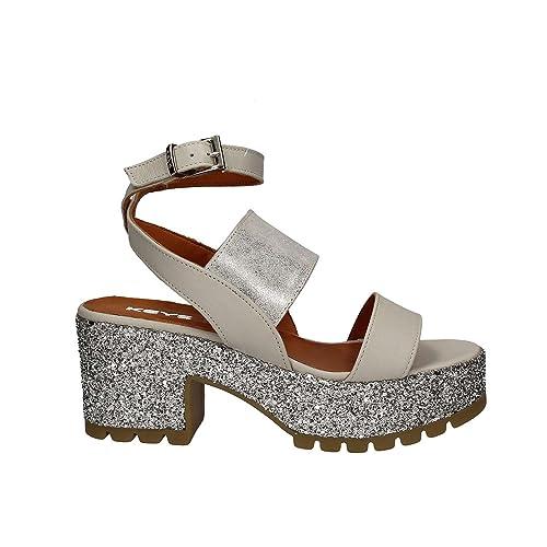 Argento E 5255 38Amazon Tacco Borse itScarpe Sandalo Donna Keys 08PknOw