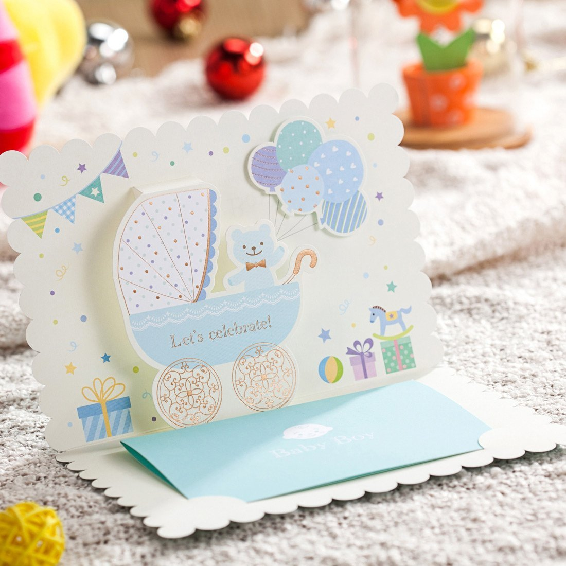 Wishmade Cw5302 Tarjetas De Invitación Para Baby Shower