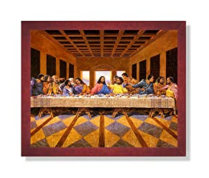 African American Black The Last Supper Jesus Christ Religious Picture Framed Art Print