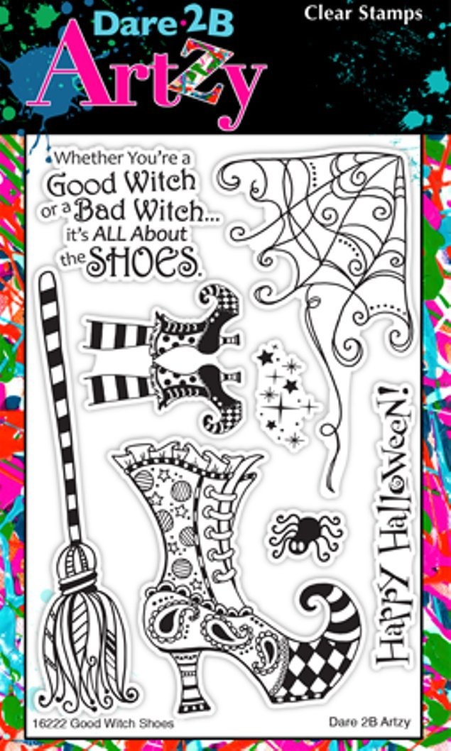 Clear Cling Rubber Stamps Dare 2B Artzy Good Witch Shoes 16222