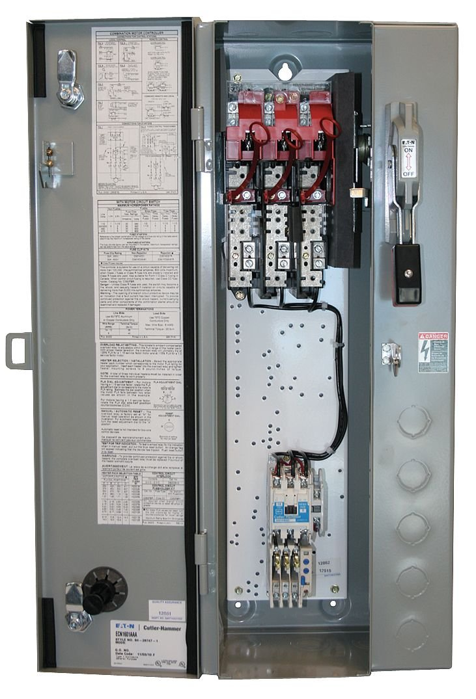 18 Amps AC 600VAC Max Motor Voltage 440//460VAC Coil Volts NEMA Fusible Combination Starter Eaton Electrical ECN1602CAC-R63//B