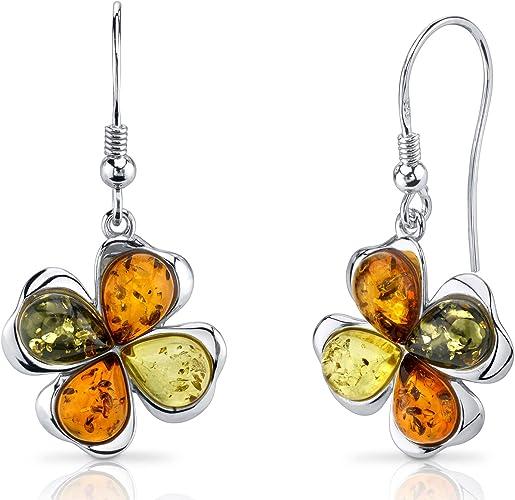 Natural Baltic Amber Jewelry Romantic Stone Gift Baltic Amber Multicolored Silver Pendant Genuine Amber Women/'s Jewelry