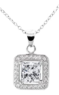 Fashion Jewelry Necklaces & Pendants 18k White Gold Plated Cz Crystal Heart Pendant Necklace Jade White