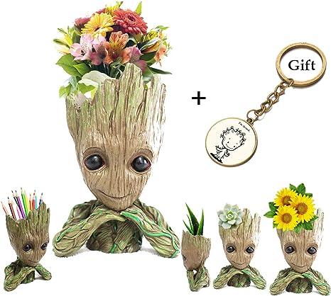 Cute Baby Groot Pen Pot Ideal Gift Groot Action Pen – Creative Groot Planter