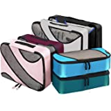Bagail 6 Set Packing Cubes,3 Various Sizes Travel Luggage Packing Organizers (Mixed Colors)