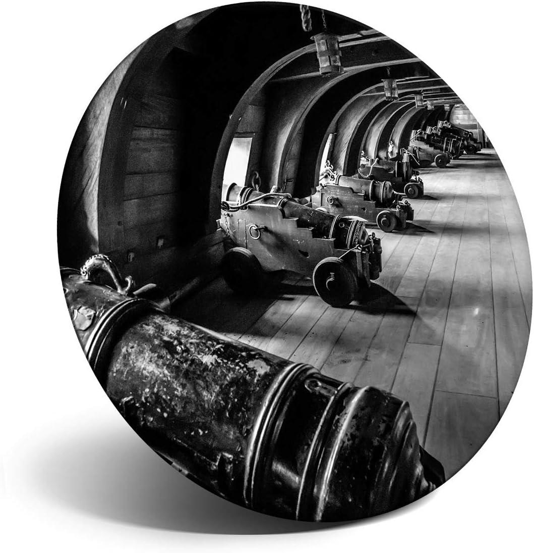 Destination Vinyl ltd Impresionante imán para refrigerador, nevera BW – Vintage pirata barco galeon pistolas para oficina, gabinete y pizarra blanca, pegatinas magnéticas, 37074