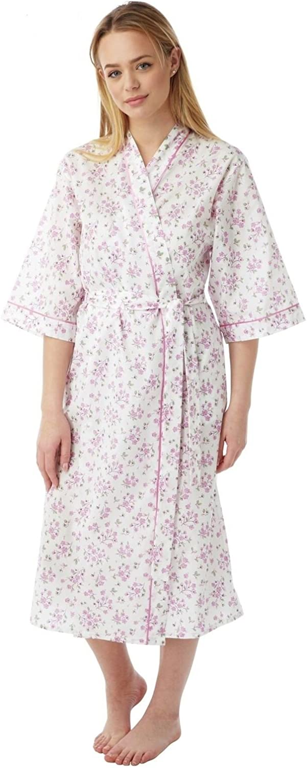 Marlon 3//4 sleeve Floral Poly-Cotton Wrap size 10 to 30-3 Colours