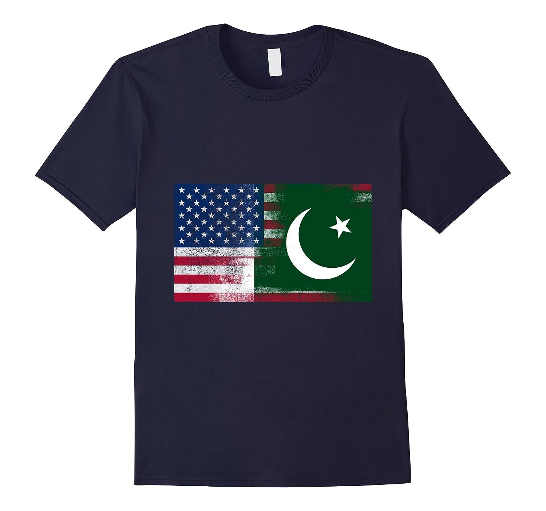 Pakistani American Half Pakistan Half America Flag Shirt-CD