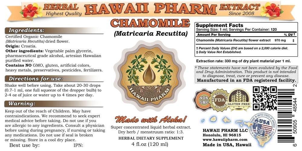 Chamomile Matricaria Recutita Liquid Extract Tincture 4 oz