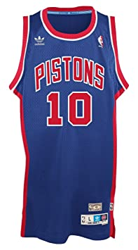adidas Dennis Rodman Detroit Pistons NBA Throw Back Swingman Jersey Camiseta - Blue, Small: Amazon.es: Deportes y aire libre