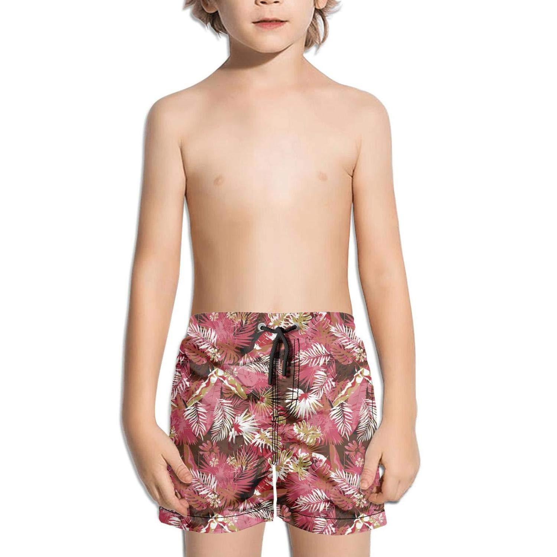 Ouxioaz Boys Swim Trunk Leafy Camo Green Beach Board Shorts