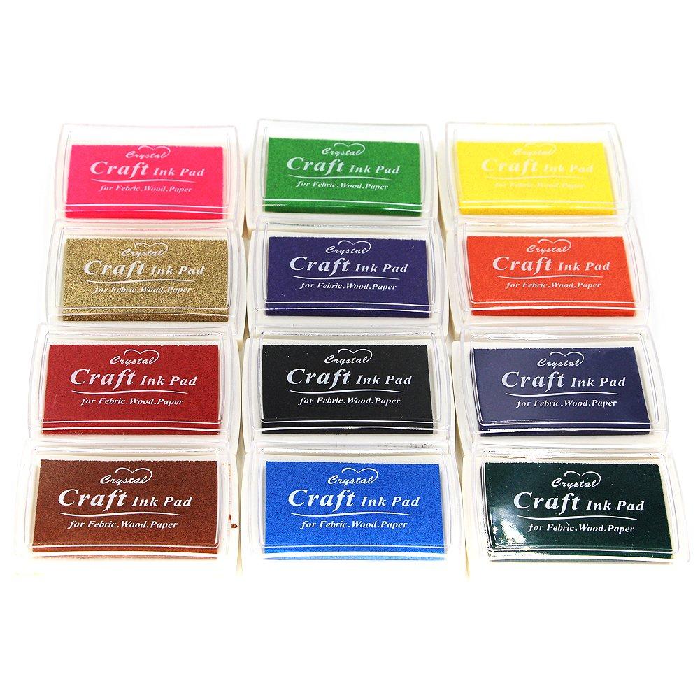 Miraclekoo Craft Ink Pad Finger ink Pad Stamps Partner Set of 15 DIY Assorted Color MPMCIP3
