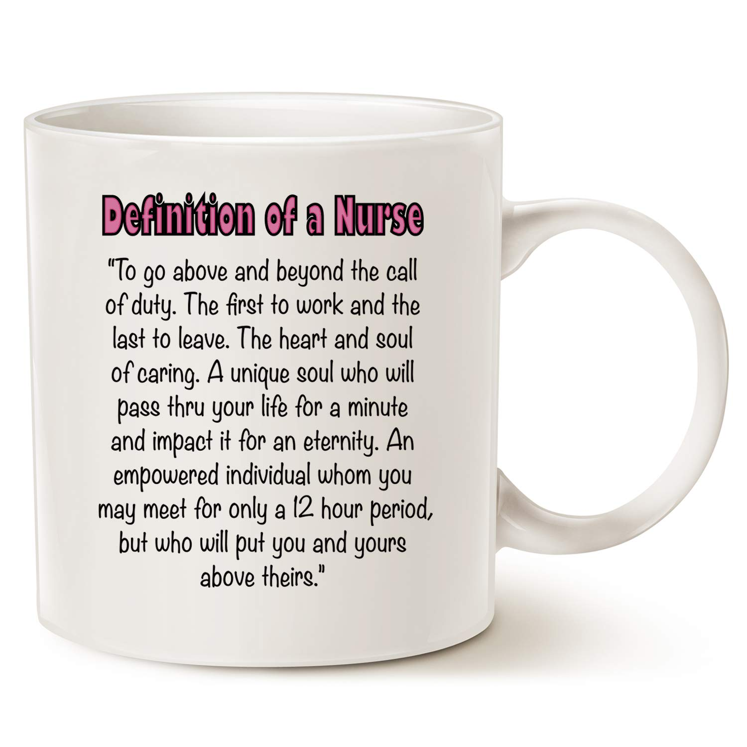 Amazon.com: Inspirational Quote Nurse Coffee Mug Father\'s Day and ...