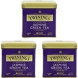 Twinings Jasmine Green Tea, Loose Tea, 3.53 Ounce Tin - Pack of 3