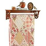 92d828b88e Amazon.com  Powell Oak Blanket Quilt Rack  Kitchen   Dining