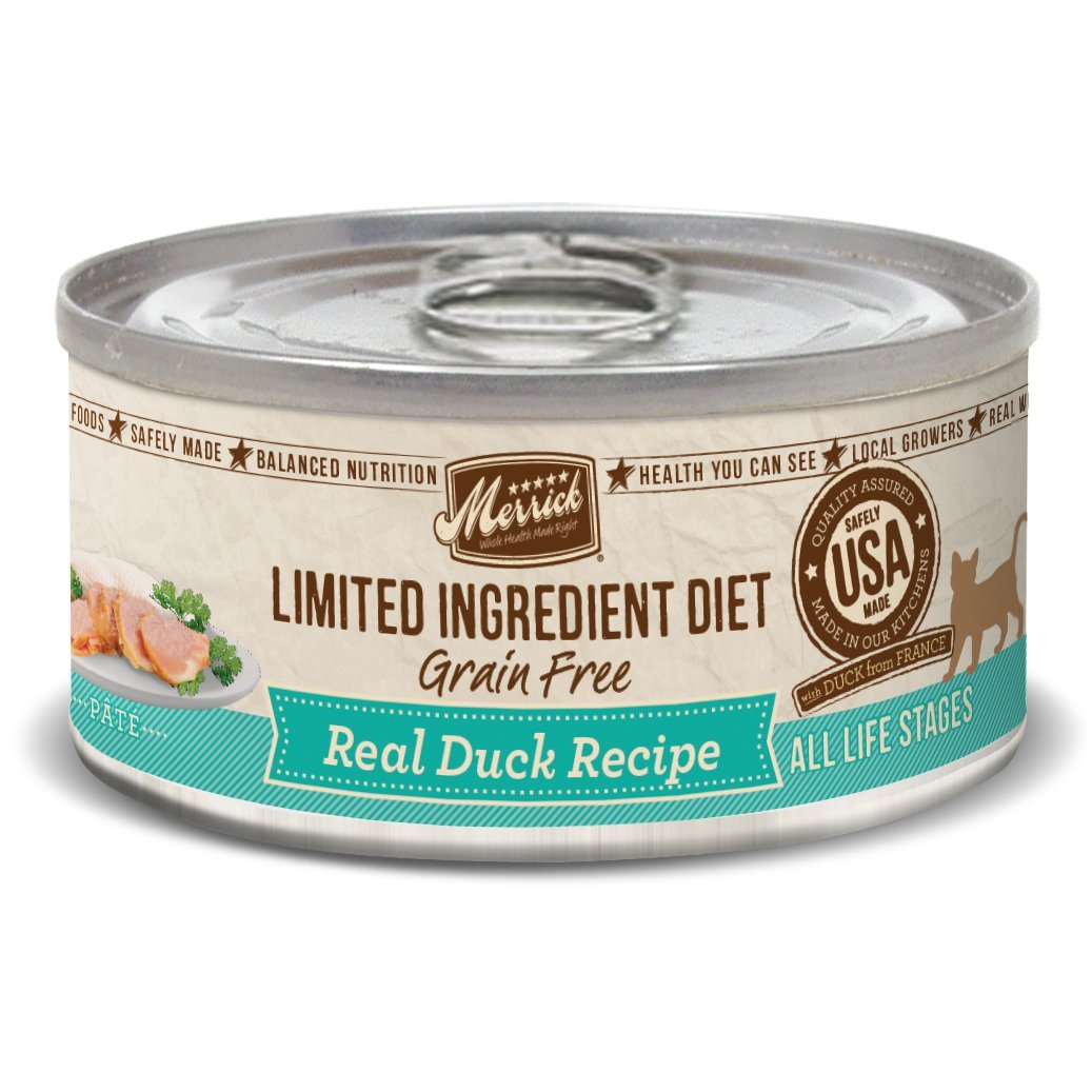 Merrick Limited Ingredient Diet Grain Free Duck Canned Cat Food, 5 Oz., Case Of 24 by Merrick