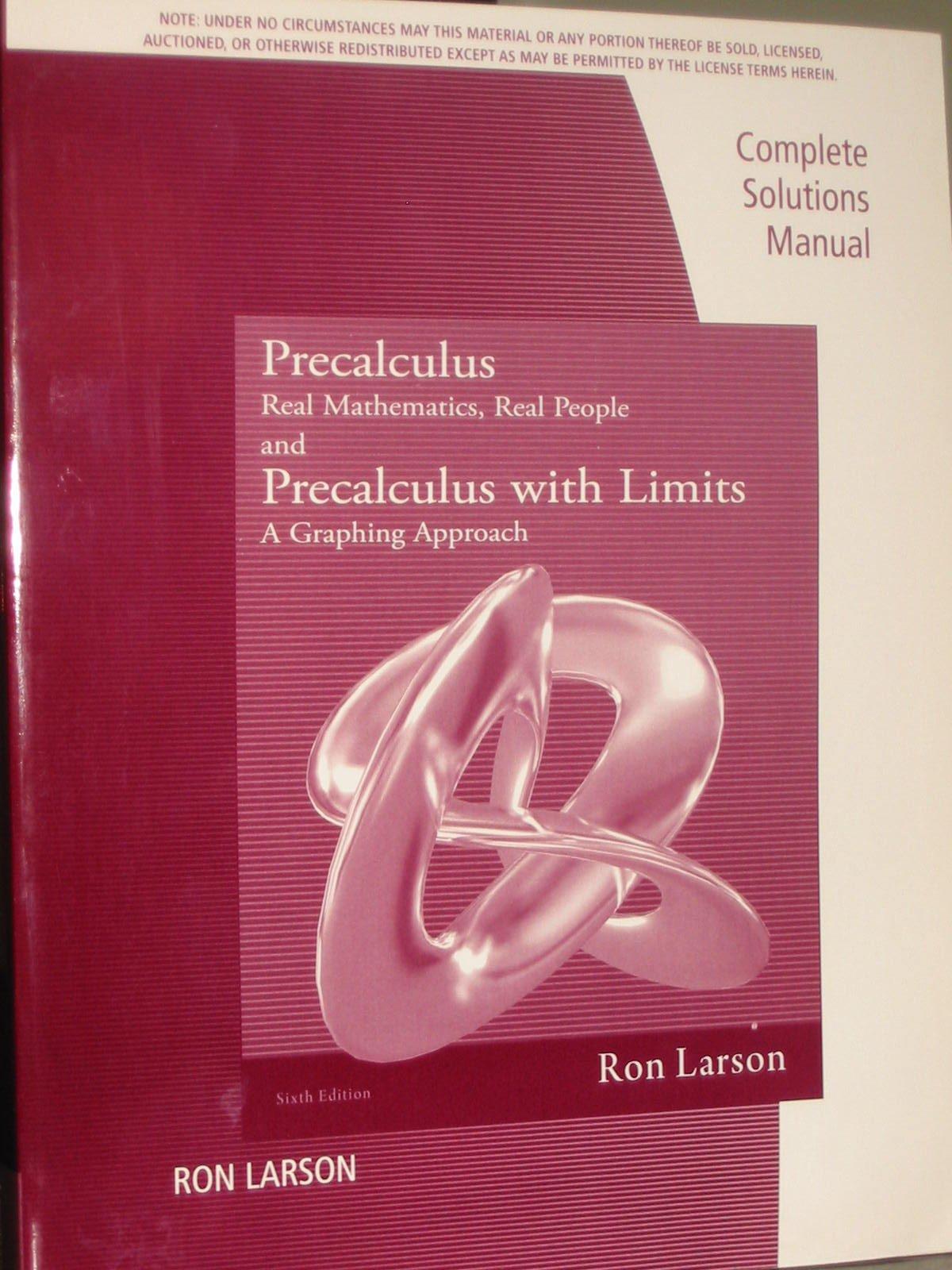 Cs Gd Precalculus Real Mathematics Real: Amazon.co.uk: Larson Larson:  9781111574024: Books